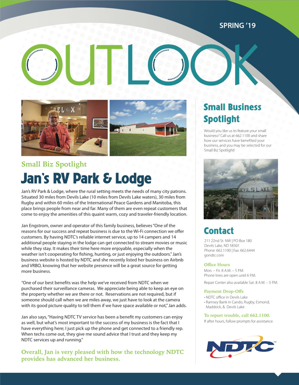 Spring 2019 Outlook Newsletter Preview